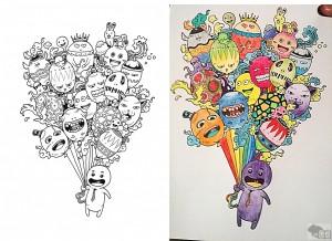 doodle balony