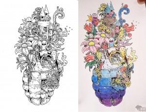doodle granat 2